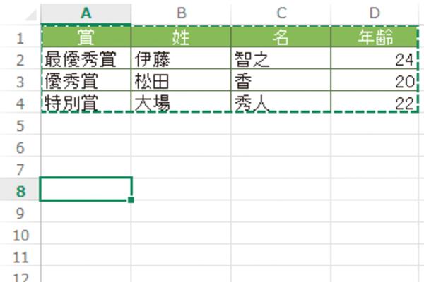 Excelでコピーしたセル範囲の枠が消えないときの対処方法