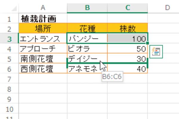 Excelのセルを移動して、ほかのセルと入れ替える方法