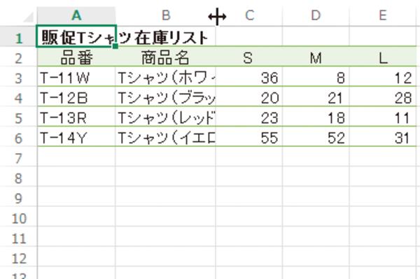 Excelでセルの内容に合わせて列の幅を調整する方法