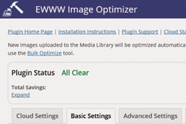 WordPress「EWWW Image Optimizer」プラグインで画像ファイルを軽量化する
