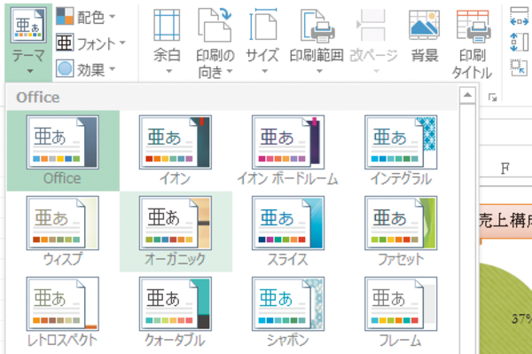 Excelの「テーマ」を利用してフォントや配色などのデザインを整える方法