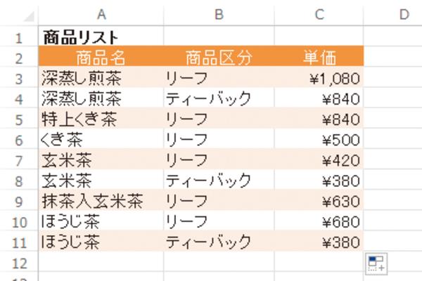 Excelの表に1行置きに色を付ける効率的な方法