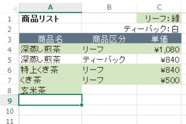 Excelで隣接したセルの書式が引き継がれないようにする方法