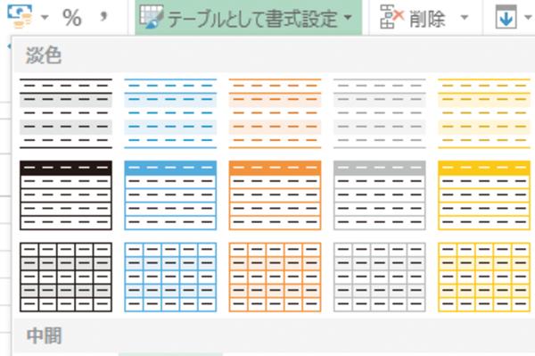 Excelの表のデザインを変更する方法