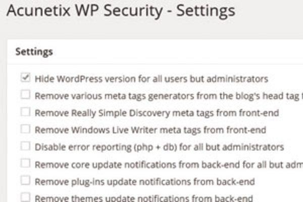 「Acunetix WP Security」プラグインの使い方:利用しているWordPressのバージョンを隠す