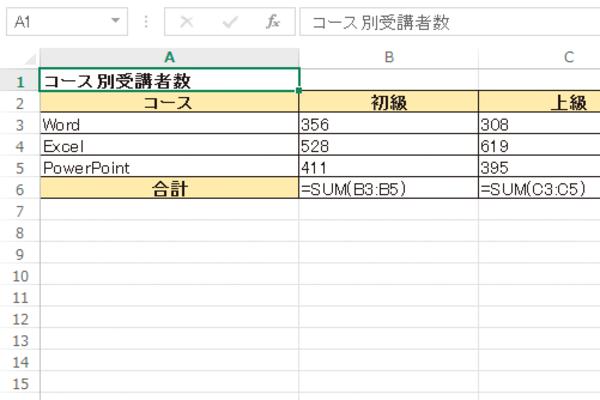 Excelでセルに計算結果ではなく数式自体を表示する方法