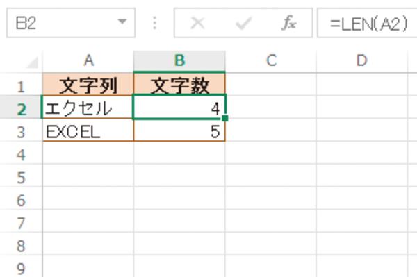 Excel関数で文字列の文字数を調べる方法