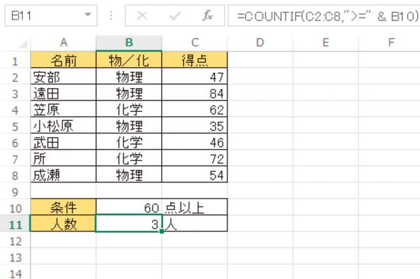 Excel関数でセルに入力した値を条件として利用する方法