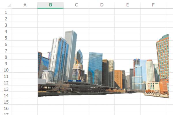 Excelのワークシートに挿入した画像を加工する方法