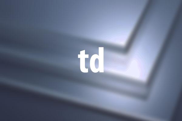 tdタグの意味と使い方