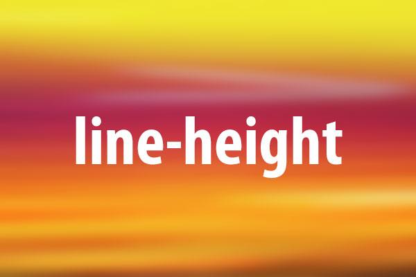 line-heightプロパティの意味と使い方