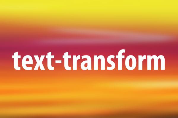 text-transformプロパティの意味と使い方
