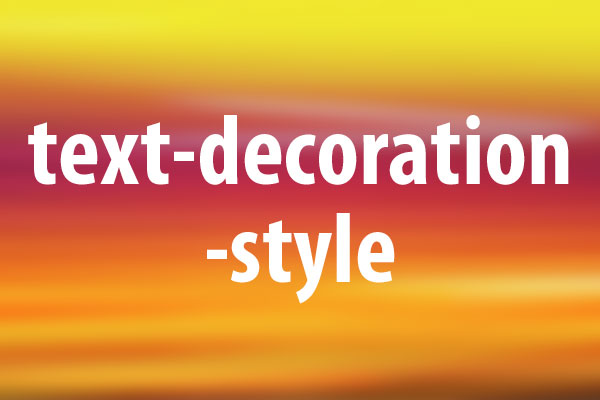 Text decoration style css for A style text decoration