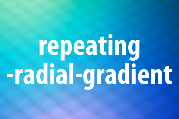 repeating-radial-gradient関数の使い方