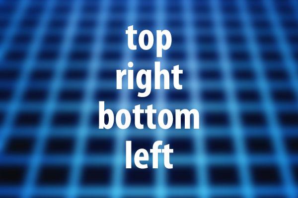 top、right、bottom、leftプロパティの意味と使い方