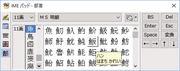 読みの分からない漢字を入力する方法