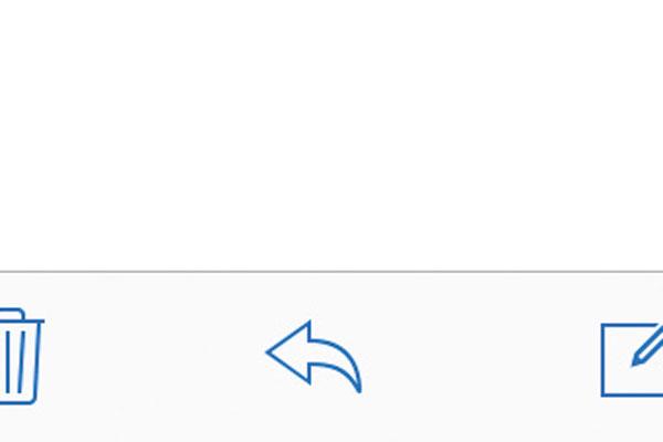 iPhoneの[メール]でメールに返事を書く方法