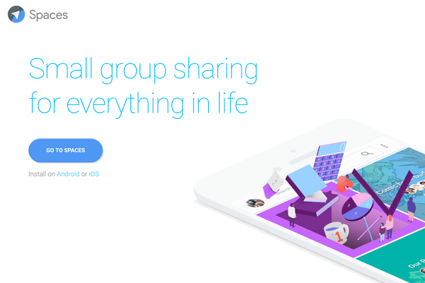 Googleの新サービス「Spaces」の使い方。iPhoneでのグループ作成と共有、招待、他アプリからの投稿方法