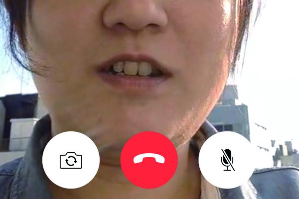 iPhoneの[FaceTime]でビデオ通話をする方法