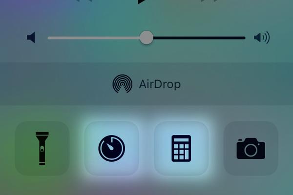 iPhoneのタイマーや計算機をすばやく表示する方法