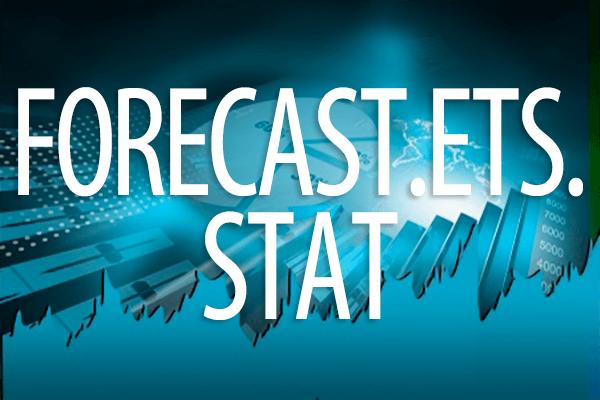 FORECAST.ETS.STAT関数の使い方。指数平滑法を利用して予測を行うときの各種の統計値を求める