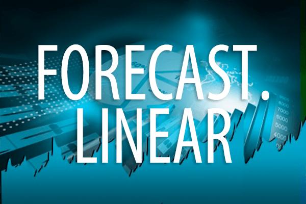 FORECAST.LINEAR関数の使い方。回帰直線を使って予測する