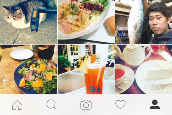 Instagramの画面構成を確認する