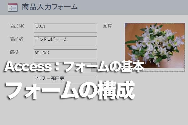 Accessのフォームの画面構成
