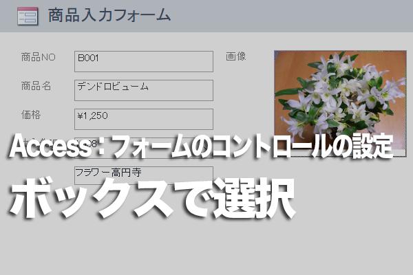 Accessのフォームで一覧から選択した値でレコードを検索する方法