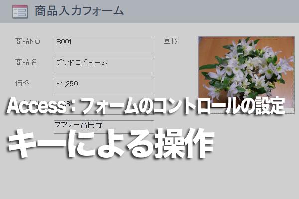 Accessのフォームでボタンのクリックをキー操作で行う方法