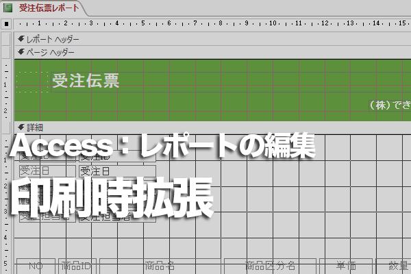 Accessのレポートですべての文字列を途切れずに印刷する方法