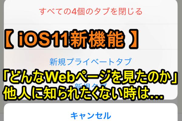 【iOS 11】コレは便利! Safari「プライベートブラウズ」への切り替えが超簡単に!(新機能)