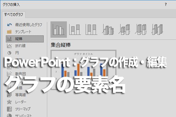 PowerPointのグラフにある要素と名前を知る方法