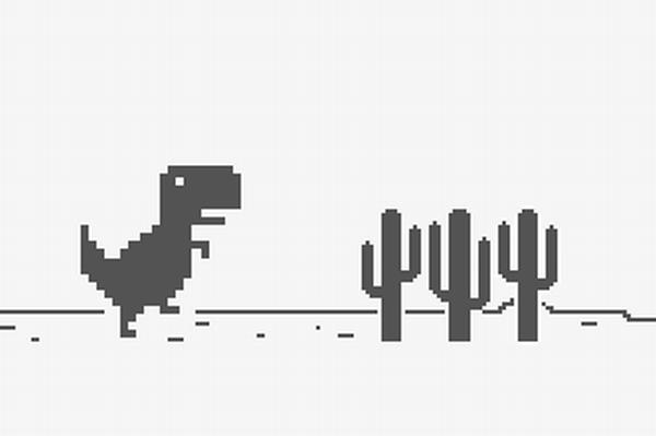 【Chrome裏ワザ】あの「恐竜ゲーム」がオンラインでも遊べるの知ってた?