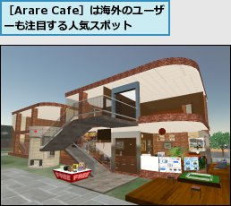 [Arare Cafe]は海外のユーザーも注目する人気スポット