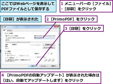 web pdf 自動印刷