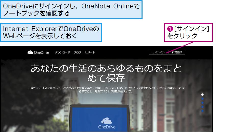 OneDriveにサインインする