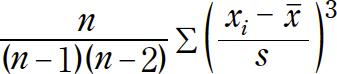 SKEW関数の定義