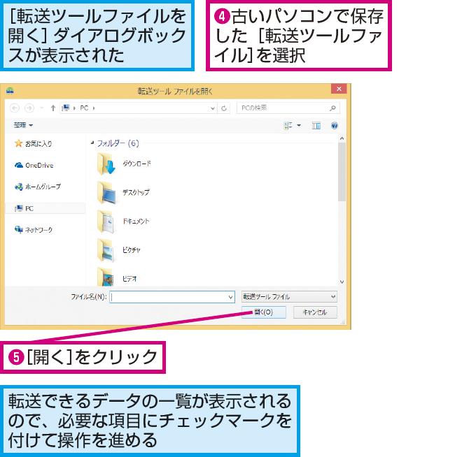 Windows転送ツールの利用方法