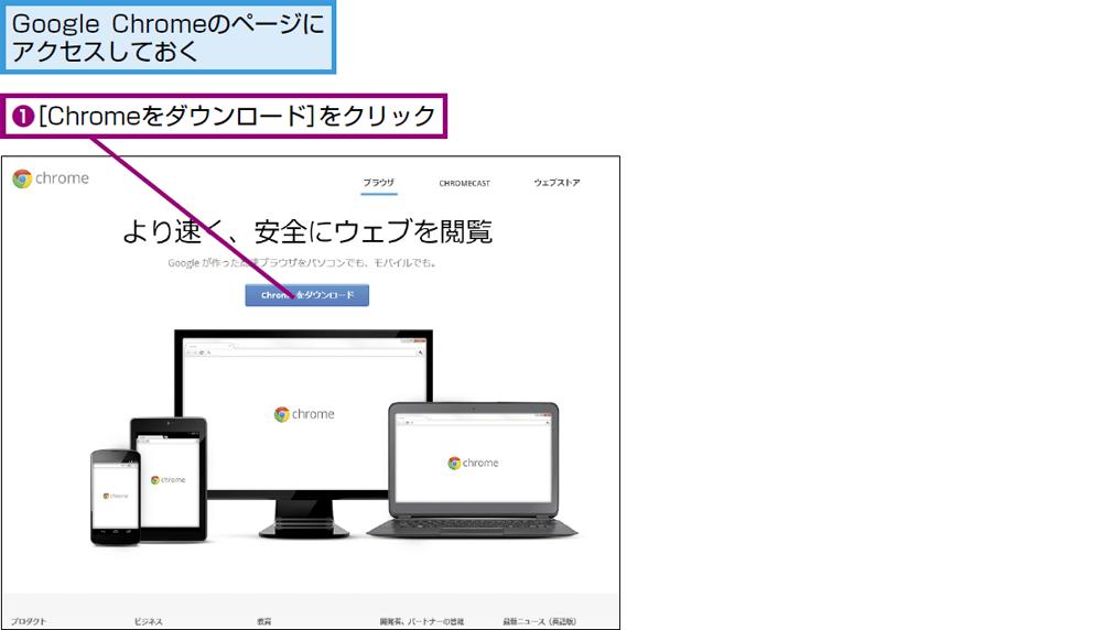 Google Chromeをインストールするには