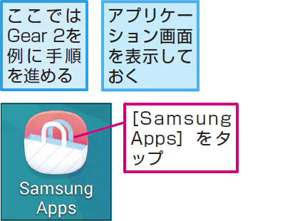 [Samsung Apps]アプリを起動する