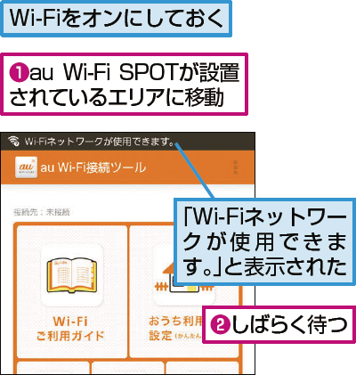 au Wi-Fi SPOTに接続する