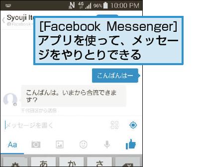 Facebookでメッセージを送信するには