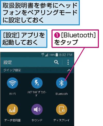 Bluetoothをオンにする