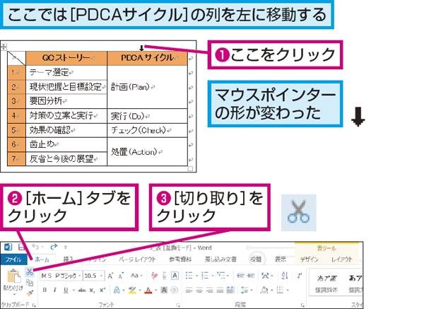 新たな一歩を応援するメディアWordで作成した表の列や行の順序を入れ替える方法