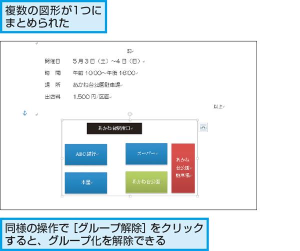 新たな一歩を応援するメディアWordで複数の図形を「グループ化」して1つにまとめる方法