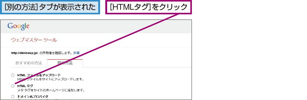 [HTMLタグ]を選択する