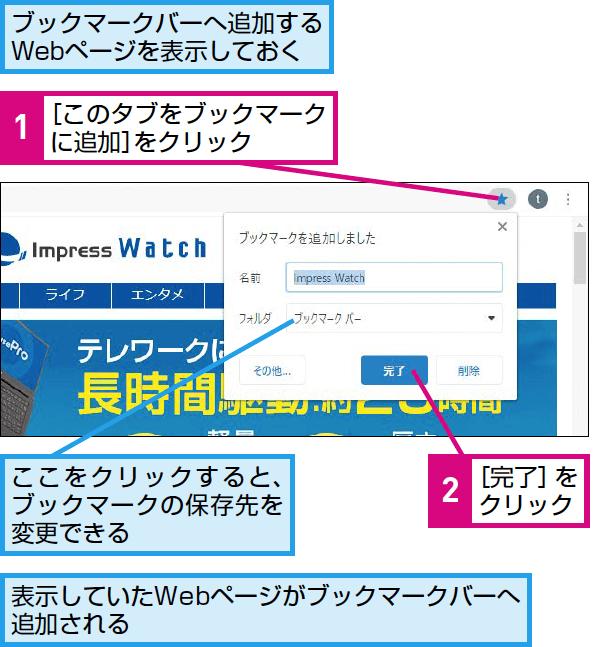 Google Chromeで複数のWebサイトをまとめてブックマークする方法