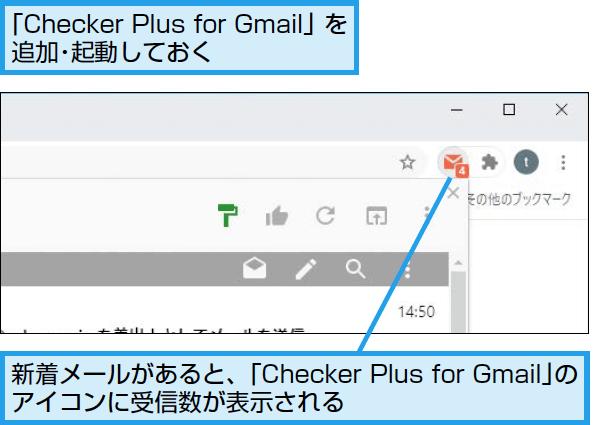 Google ChromeでGmailの新着メールをチェックする方法