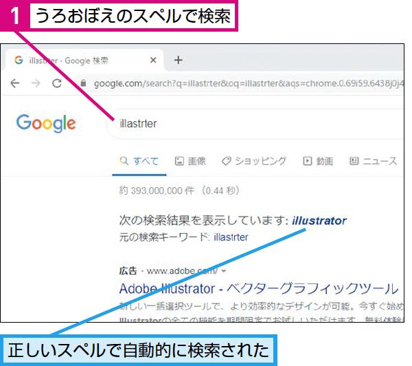 Google検索でスペルが分からない単語を調べる方法